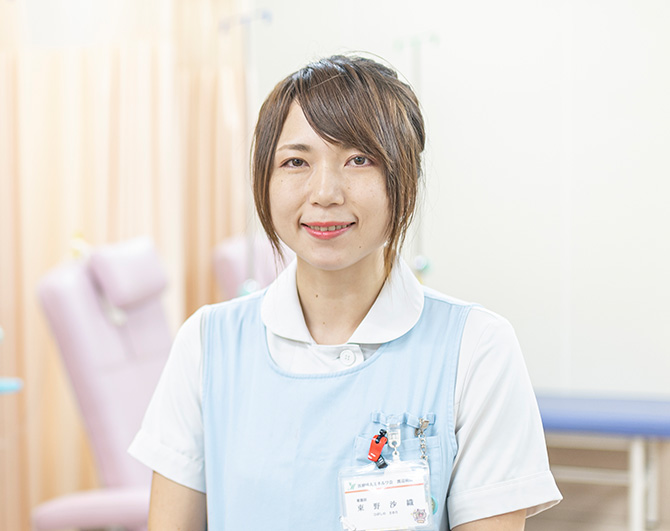 外来看護師 東野 沙織